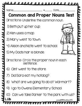 1st Grade Wonders Unit 2 Week 4 Grammar Charts and Assessments