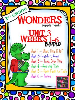 1st Grade Wonders (2014) - Unit 3 Bundle