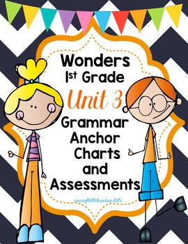 1st Grade Wonders Unit 3 Grammar Charts and Assessments