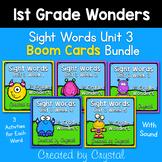 1st Grade Wonders Unit 3 Sight Word Boom Cards Bundle (Dis