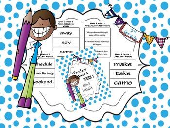 1st Grade Wonders Unit 3 Word Bundle