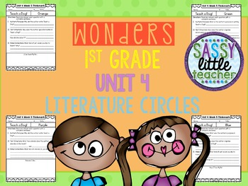 1st Grade Wonders Unit 4 Literature Circles