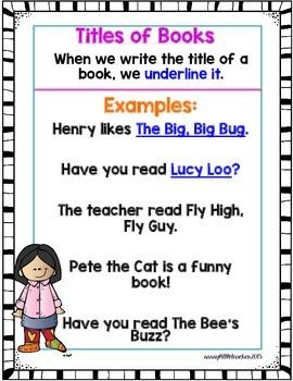 1st Grade Wonders Unit 4 Week 4 Grammar Charts and Assessments