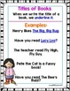1st Grade Wonders Unit 4 Week 4 Grammar Charts and Assessments