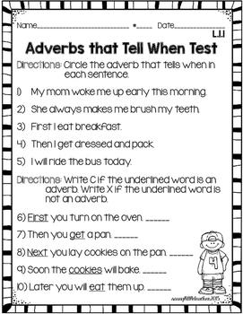 1st Grade Wonders Unit 4 Week 5 Grammar Charts and Assessments
