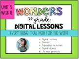 1st Grade Wonders Unit 5 Week 4 Digital Resources *Distance Learning*