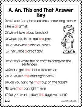 1st Grade Wonders Unit 5 Week 4 Grammar Charts and Assessments