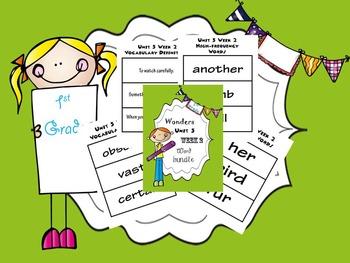 1st Grade Wonders Unit 5 Word Bundle