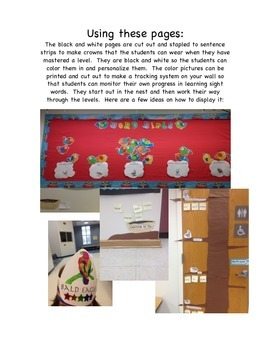 1st Grade Word Birds (High-Frequency Words)