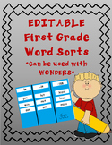 1st Grade Word Sorts Wonders EDITABLE