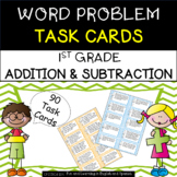 1st Grade Word Problem Task Cards (90 cards - addition & s