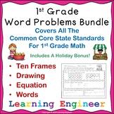 1st Grade Math Center Addition Word Problems