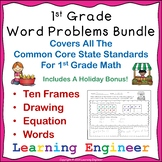 1st Grade Math Center : One Step Addition Word Problems