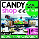 1st Grade Word Problems   Candy Shop Classroom Transformation