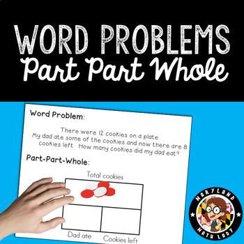 1st Grade Word Problems - Part Part Whole
