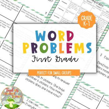1st Grade Word Problems--Progress Monitoring