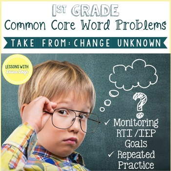 Special Education Word Problem Intervention; Take From Change Unknown