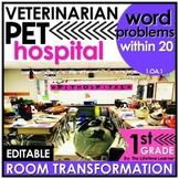 1st Grade Word Problems   Veterinarian Room Transformation