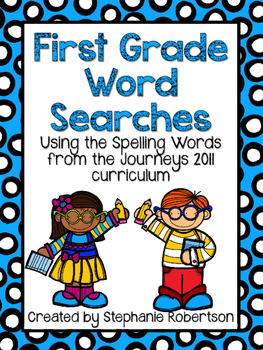 1st Grade Word Searches with Spelling Words from the Journ