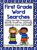 1st Grade Word Searches with Words to Know from Journeys Common Core 2014 ed.