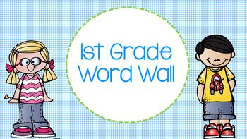 1st Grade Word Wall
