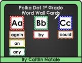 1st Grade Word Wall Cards (Polka Dot)