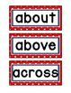 1st Grade Word Wall Cards - Red and Navy
