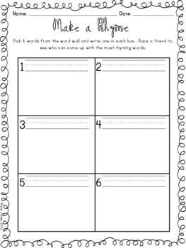 1st Grade Word Wall Kit