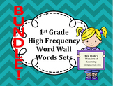1st Grade Word Wall Word Set BUNDLE
