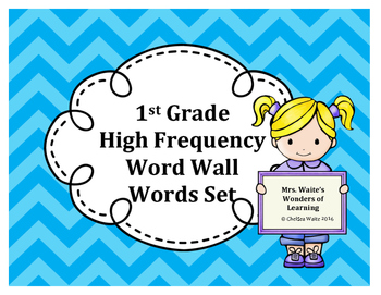 1st Grade Word Wall Word Set Light Blue