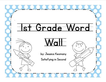 1st Grade Word Wall Words & Activities