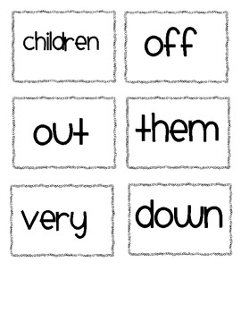 1st Grade Word Wall Words OOPS Game