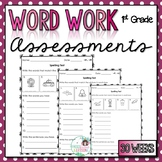 1st Grade Word Work Assessments with Digital Option for Di