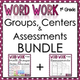 1st Grade Word Work - Bundle - Groups, Centers, Data Collection, and Assessments