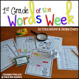 1st Grade Words of the Week & All the Extras