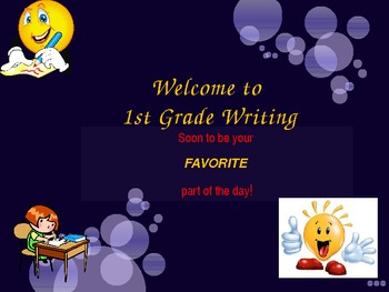 1st Grade Writer's Workshop Assessment Begining of the School Year