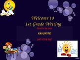 1st Grade Writer's Workshop Assessment Begining of the Sch