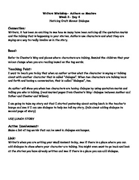 1st Grade Writers Workshop- Authors as Mentors Mini-Lessons