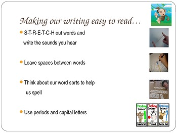 1st Grade Writers Workshop lesson 2.3 Snap Words