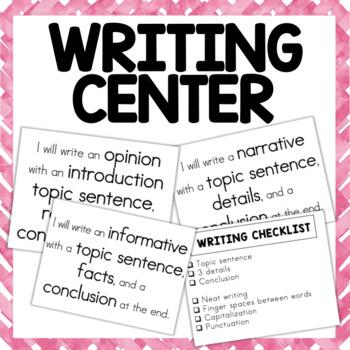 1st Grade- Writing Center Printable