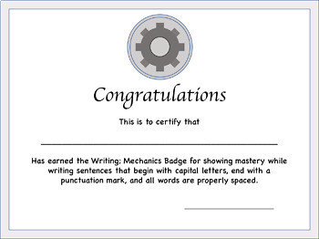 Writing Badges - Kindergarten - 2nd grade gamification