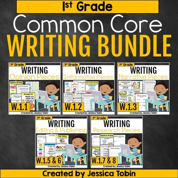 1st Grade Writing Growing Bundle- Common Core Writing Domain