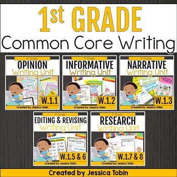 1st Grade Writing Bundle- Common Core Writing Domain