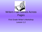 1st Grade Writing Lesson 1.2 Writers Plan Stories Across Pages