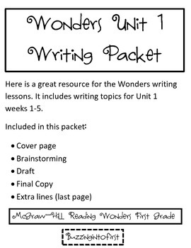 1st Grade Writing Packet - McGraw-Hill Reading Wonders