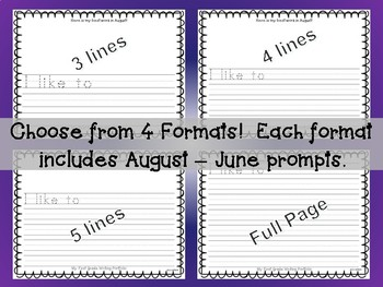 1st Grade Writing Portfolio August - June Prompts 4 Formats - First Keepsake