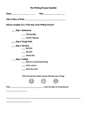 1st Grade Writing Process Checklist