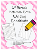 1st Grade Writing Skills Checklist- Common Core Aligned