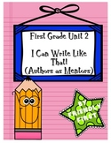 1st Grade Writing Authors as Mentors Charts & Teaching Points