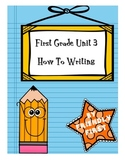 1st Grade Writing How-To books Charts & Teaching Points